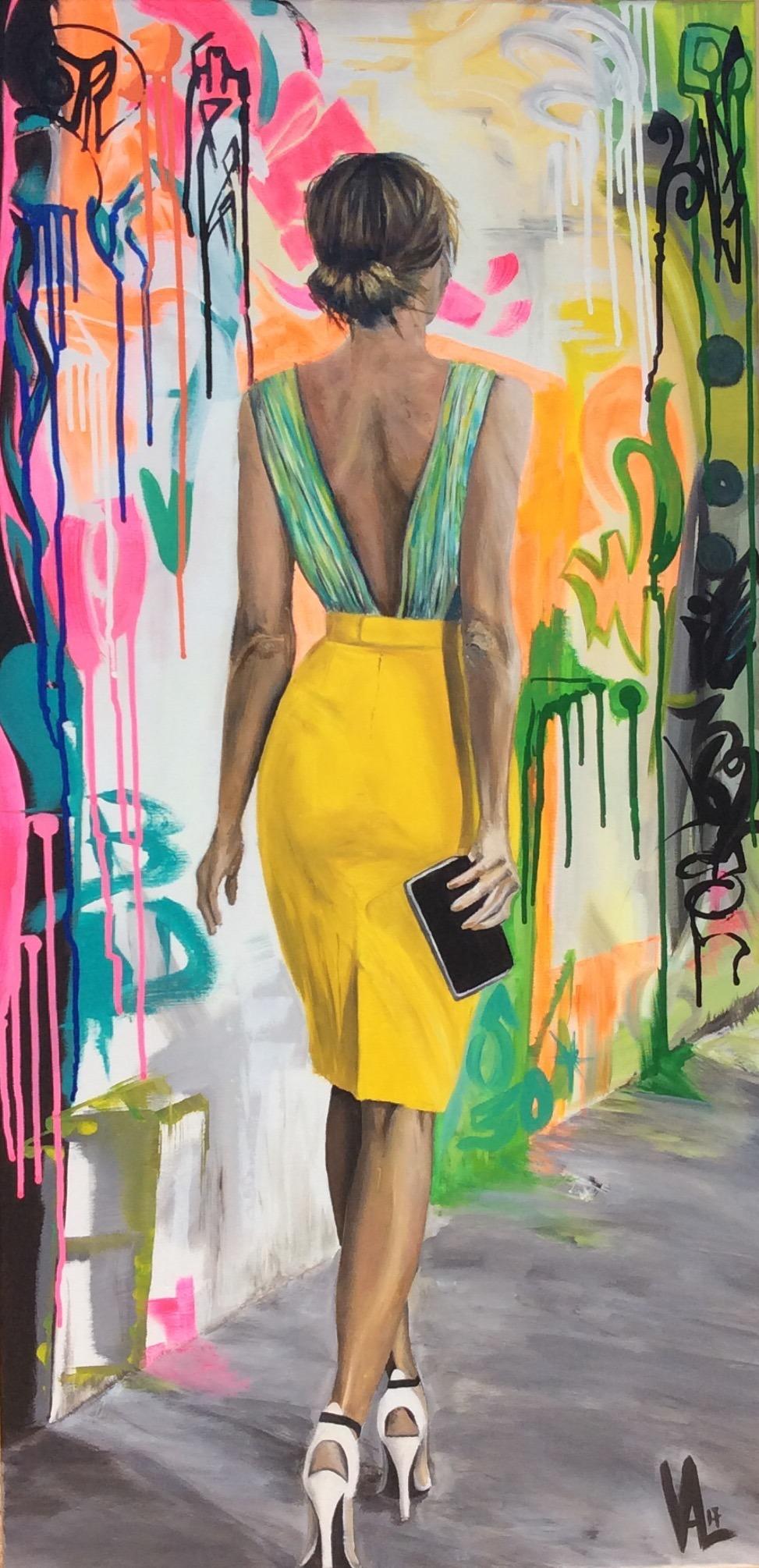 Femme à la jupe jaune